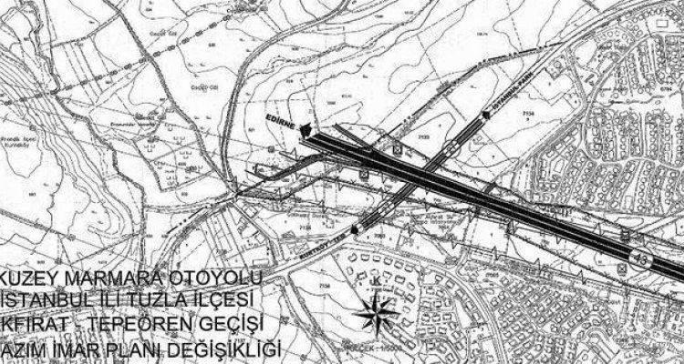 Kuzey Marmara Otoyolu Akfırat Tepeören Geçişi İmar Planı Askıda