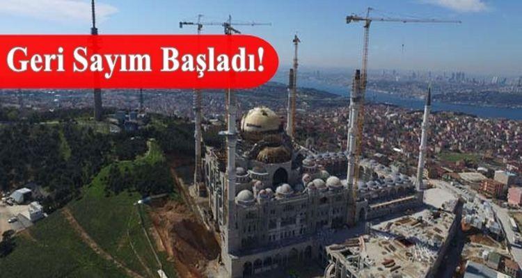 Çamlıca Cami'nin Dev Kubbesi Kapatıldı