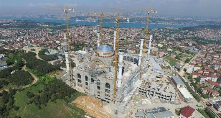 Cumhuriyet Tarihinin En Büyük Camisi Yarın İbadete Açılıyor