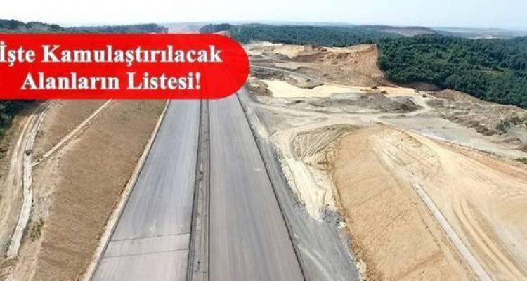 Kuzey Marmara Otoyolu Projesi İçin Acele Kamulaştırma Kararı Çıktı