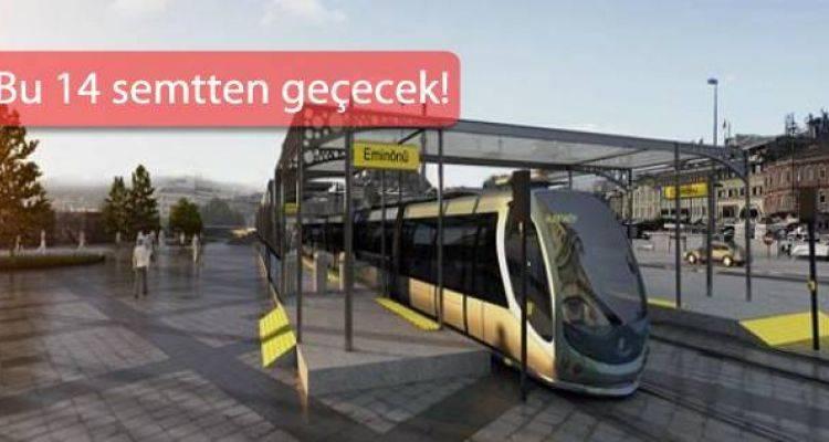 Eminönü Alibeyköy Tramvay Hattı Başlıyor