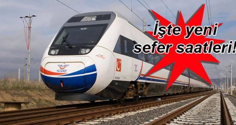 Yüksek Hızlı Tren Sefer Saatleri Değişti!