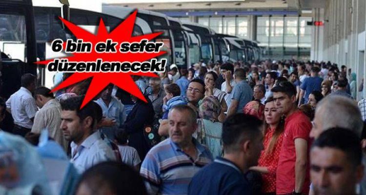 Tatil Uzayınca Otobüs Biletleri Hızla Tükendi!