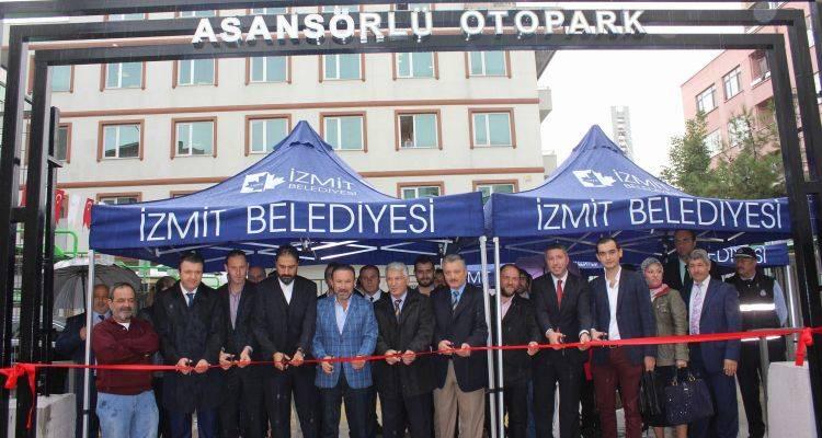 İzmit'e Asansörlü Otopark!
