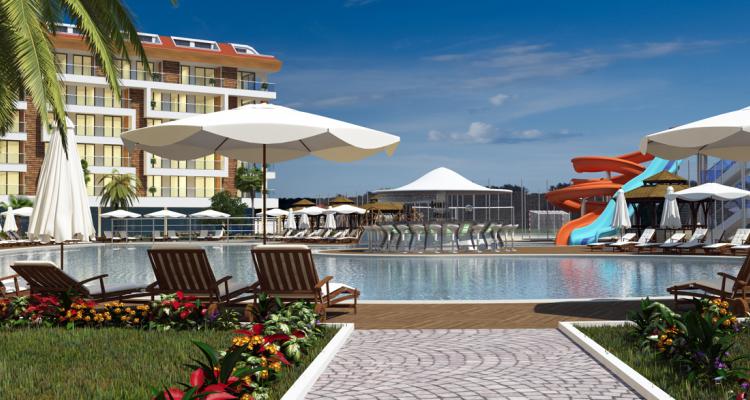 Alanya Fortuna Resort'ta Haftalık 500 Euro Kira Getirili Daireler 86 Bin Euro
