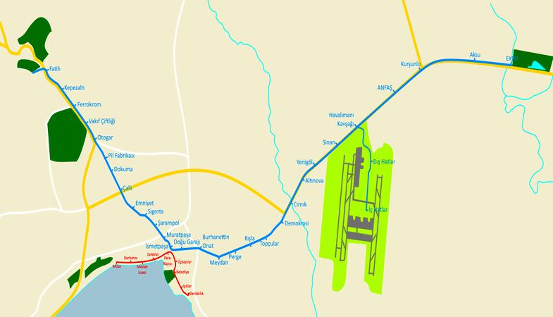 Antalya'ya Raylı Sistem Hattı Yapılacak