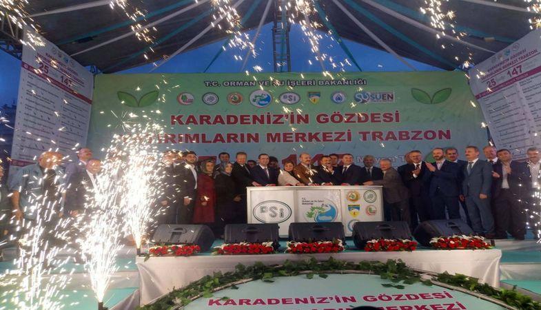 Trabzon'da 147 milyon liralık 25 tesisin temel atma töreni yapıldı