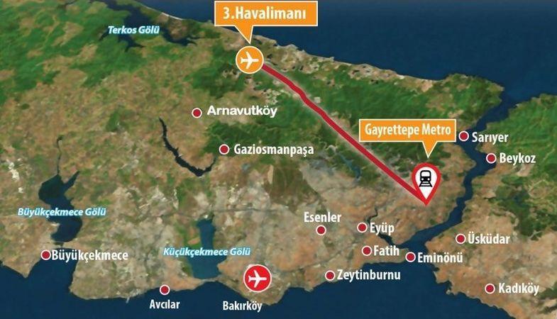 Gayrettepe - 3. Havalimanı çalışmaları sürüyor