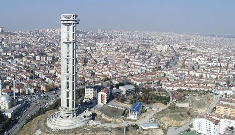 Ankara Keçiören'deki Cumhuriyet Kulesi'ne tadilat yapılacak