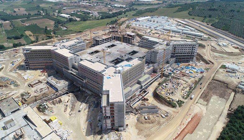Bursa Şehir Hastanesi inşaatında sona gelindi