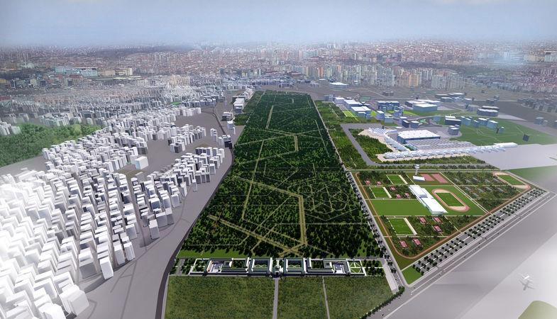 Atatürk Havalimanı Millet Bahçesi proje çalışmaları bitti
