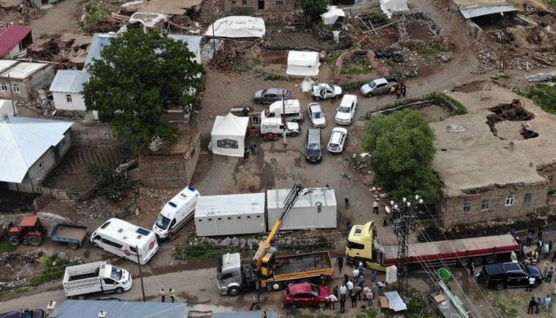 Bingöl'de 638 ağır hasarlı bina tespit edildi