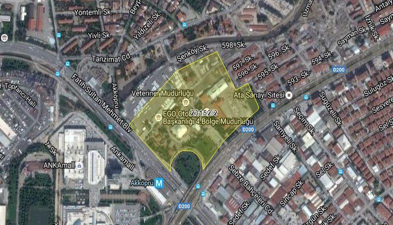 Ankara Büyükşehir Belediyesi'nden 356.2 Milyon TL'ye Satılık Arsa