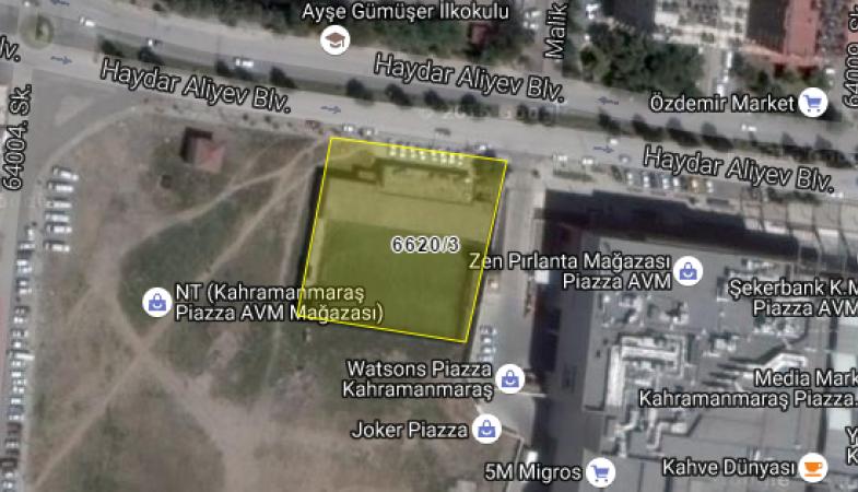 Kahramanmaraş Büyükşehir Belediyesi'nden 20.4 Milyon TL'ye Satılık Arsa