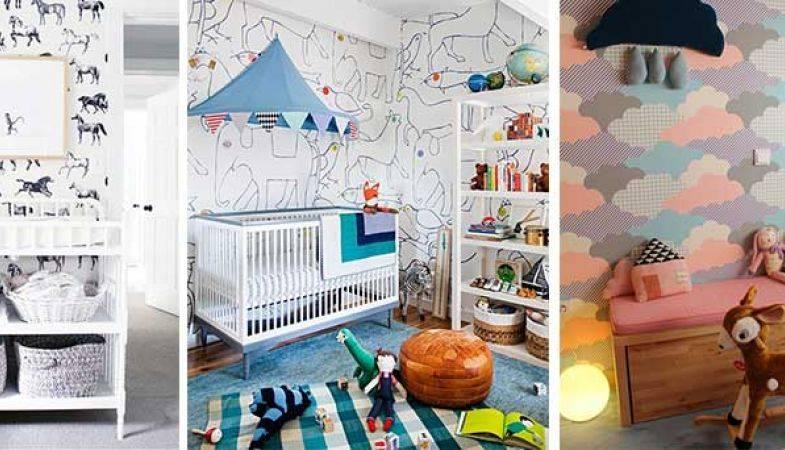 Çocuk Odaları İçin Duvar Kağıtları