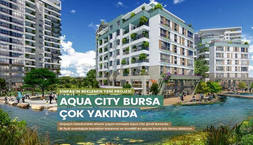 Sinpaş Aqua City Bursa 200 bin TL'den başlıyor